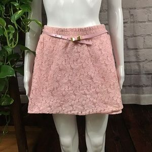 Candie's pink lace floral skirt size medium